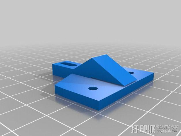 Kossel Mini打印机顶部线轴支架 3D模型  图3