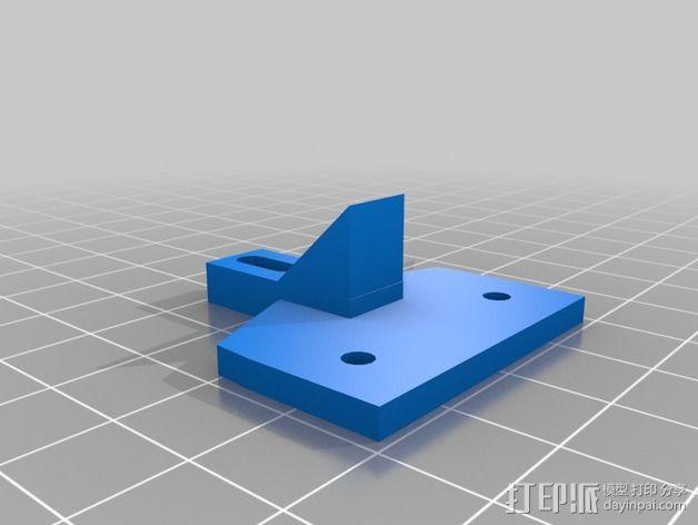 Kossel Mini打印机顶部线轴支架 3D模型  图4