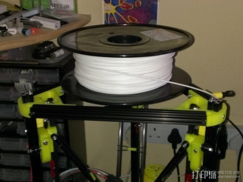 Kossel Mini打印机顶部线轴支架 3D模型  图7