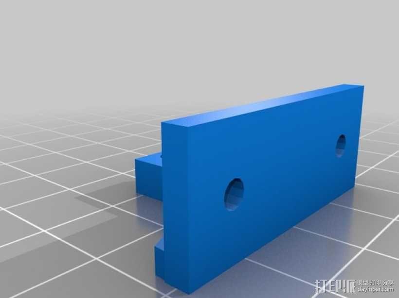 Kossel Mini打印机顶部线轴支架 3D模型  图5