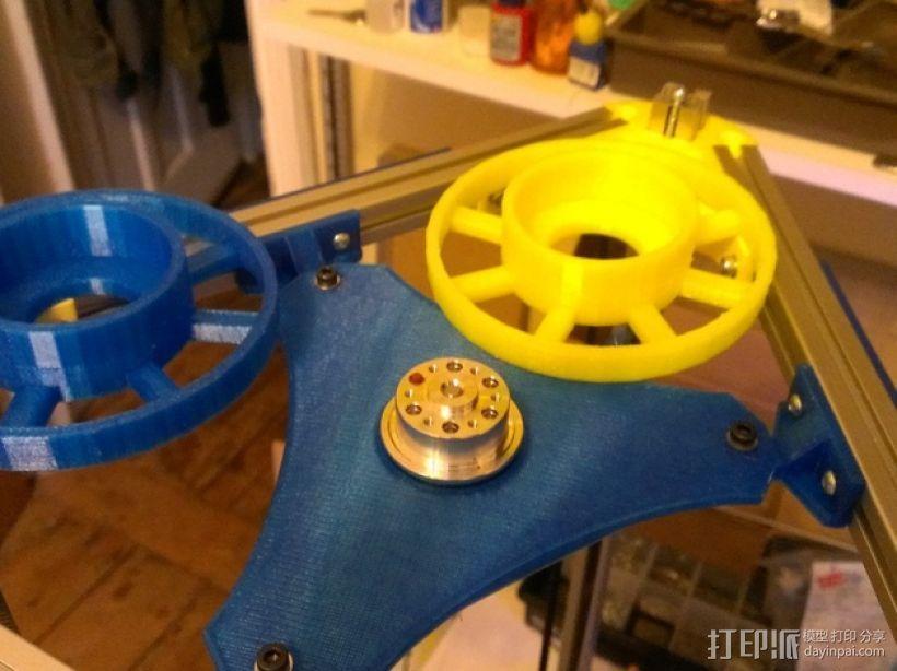 Kossel Mini打印机顶部线轴支架 3D模型  图9