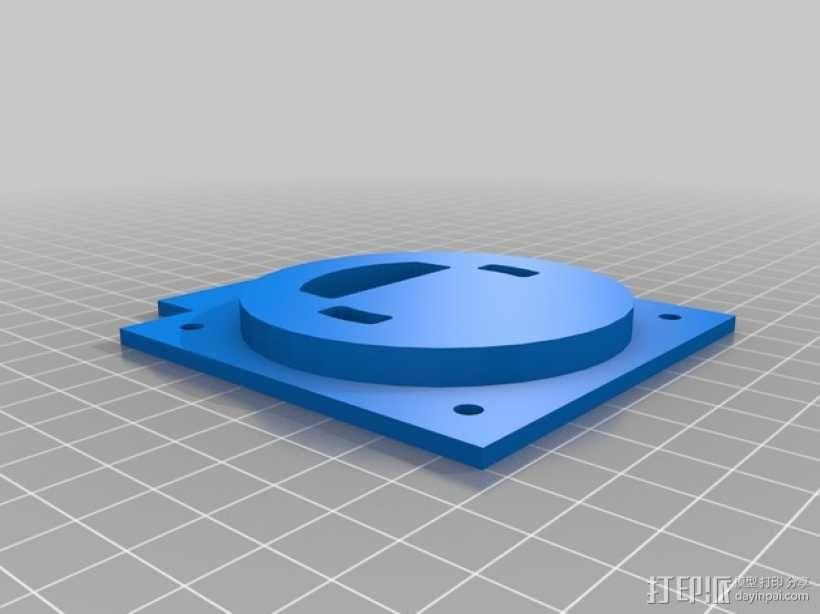 线轴连接器 3D模型  图3