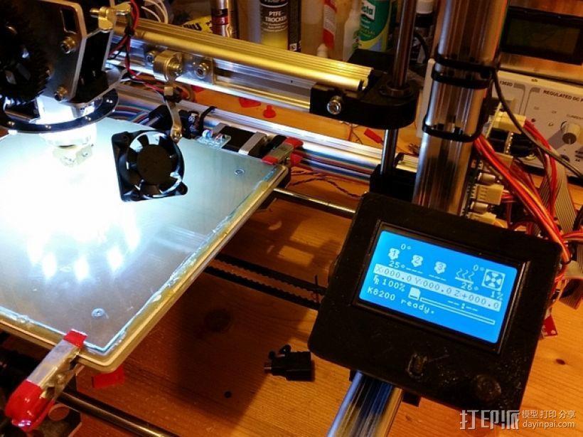 打印机控制器液晶显示器支架 3D模型  图1