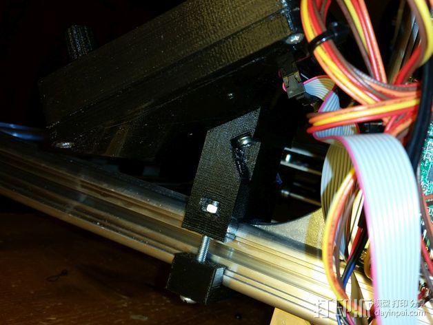 打印机控制器液晶显示器支架 3D模型  图3