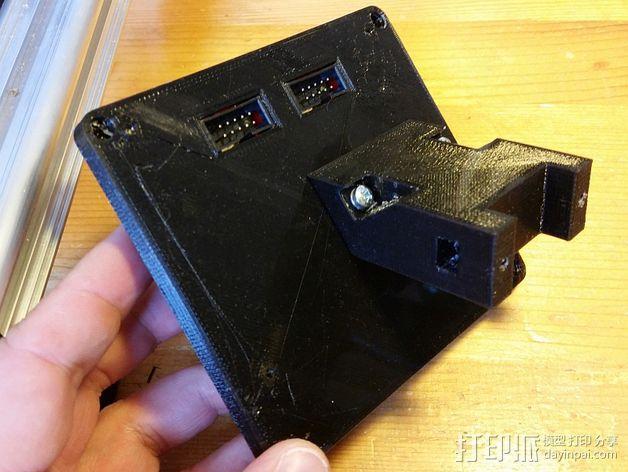 打印机控制器液晶显示器支架 3D模型  图2