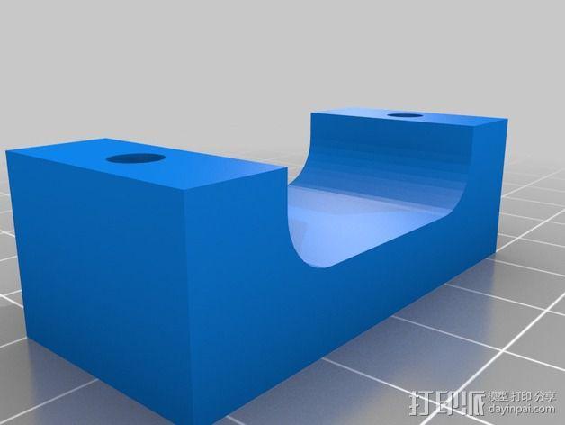 打印机控制器液晶显示器支架 3D模型  图5