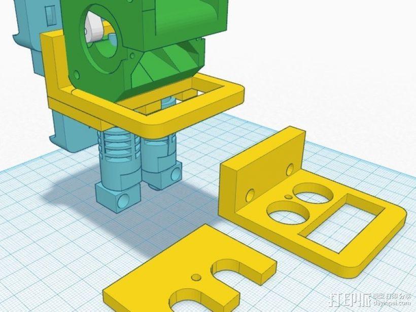 双挤出机适配器 3D模型  图1