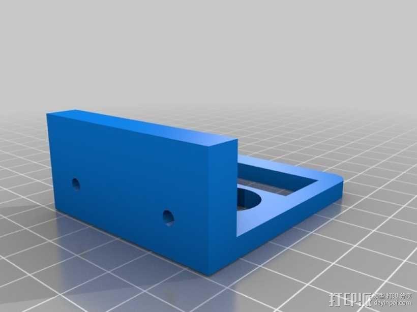 双挤出机适配器 3D模型  图3