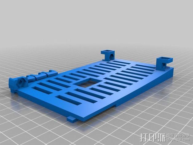 Printrbot Simple 打印机底部保护罩 3D模型  图3