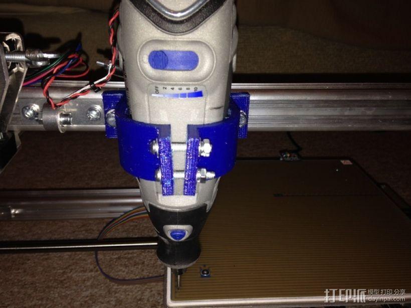 电磨支架 3D模型  图2