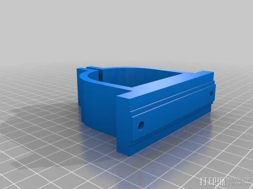 电磨支架 3D模型  图1