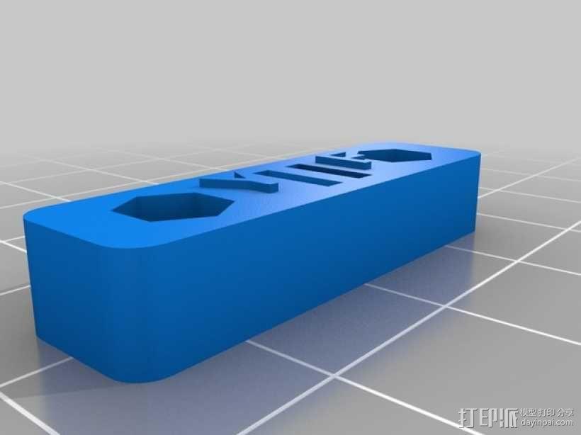 Printrbot Simple 打印机皮带张紧器 3D模型  图1