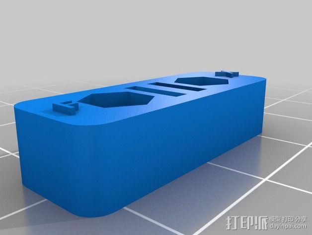 Printrbot Simple 打印机皮带张紧器 3D模型  图2