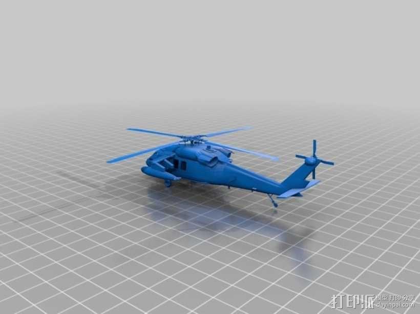 UH-60黑鹰直升机 3D模型  图1