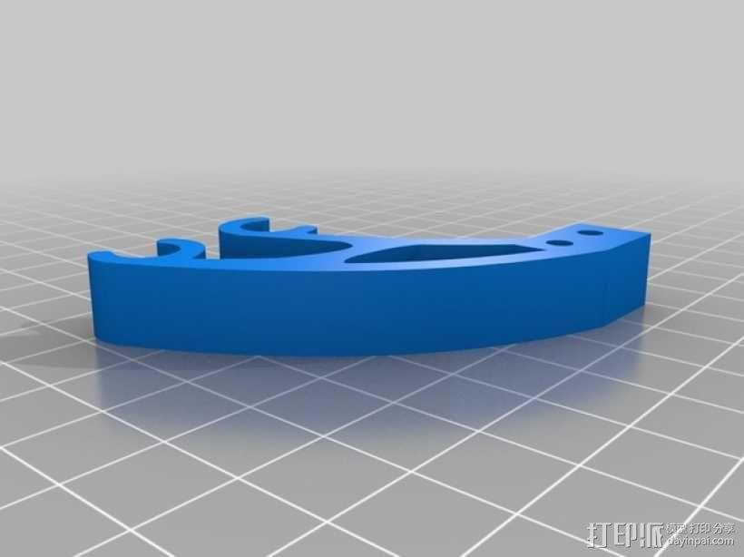Prusa i3打印机Y轴限位开关 3D模型  图1