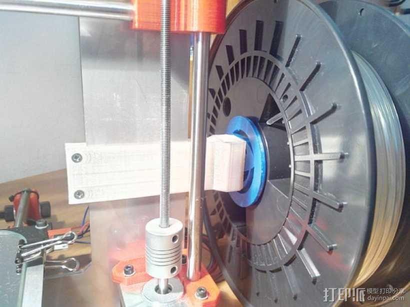 Prusa i3 打印机线轴架 3D模型  图1