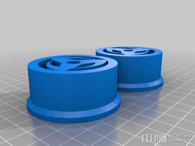 Prusa i3 打印机线轴架 3D模型  图3