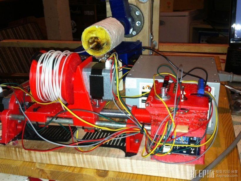 线轴支架 卷线器 3D模型  图1