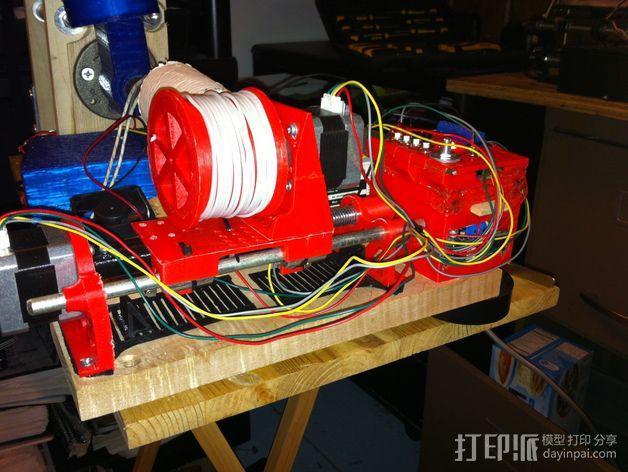 线轴支架 卷线器 3D模型  图2