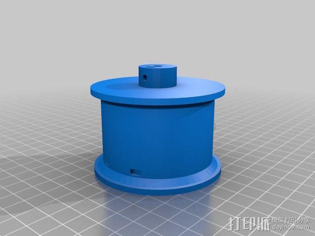 线轴支架 卷线器 3D模型  图7
