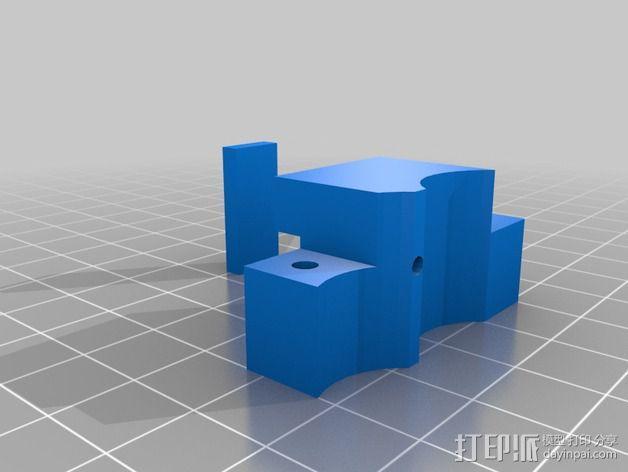 鲍登挤出机连接器 3D模型  图2