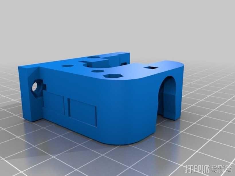 Delta 式打印机的挤出机 3D模型  图2