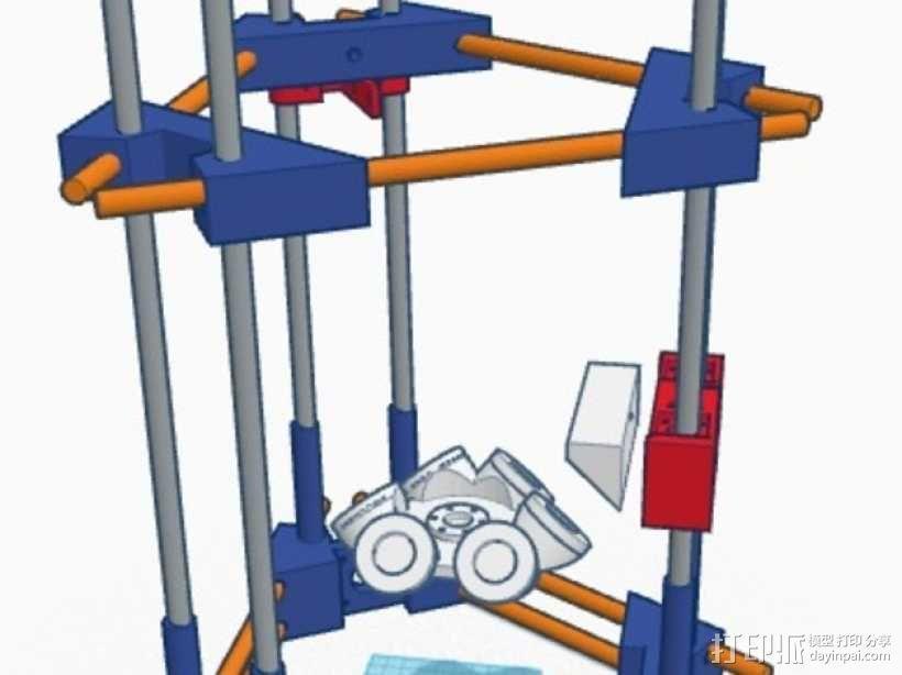 Delta式3D打印机 3D模型  图1
