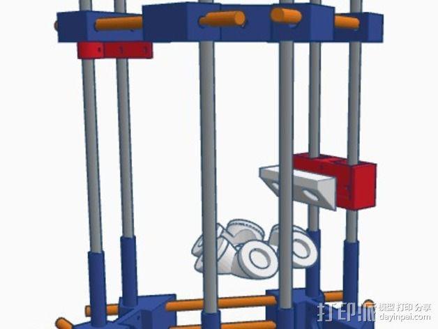 Delta式3D打印机 3D模型  图3