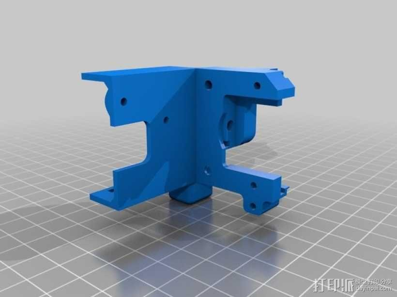 Afinia H-Series H479挤出机模型 带风扇 3D模型  图3
