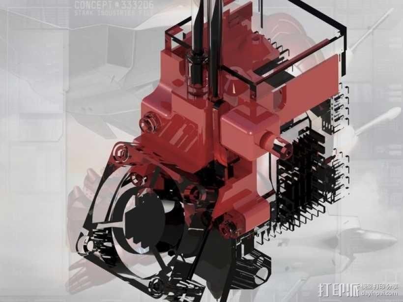 Afinia H-Series H479挤出机模型 带风扇 3D模型  图6