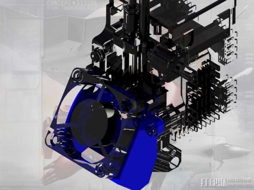 Afinia H-Series H479挤出机模型 带风扇 3D模型  图7