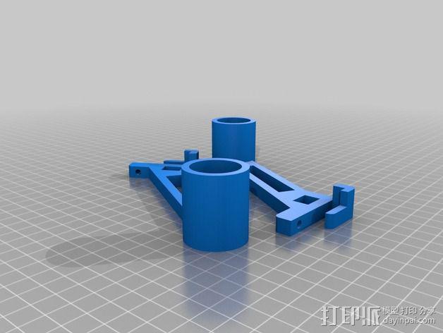 Prusa I3 打印机线轴支架 3D模型  图2