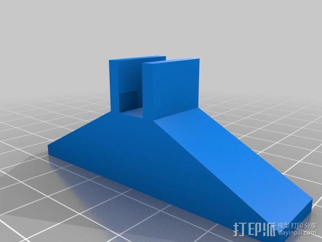 Printrbot Simple 打印机底部稳定器 3D模型  图2