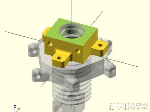 E3Dv5喷头支架 3D模型  图2