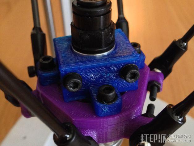 E3Dv5喷头支架 3D模型  图1