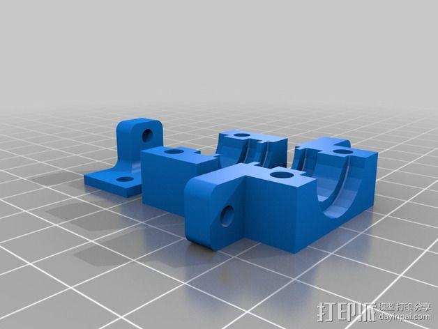 E3Dv5喷头支架 3D模型  图4