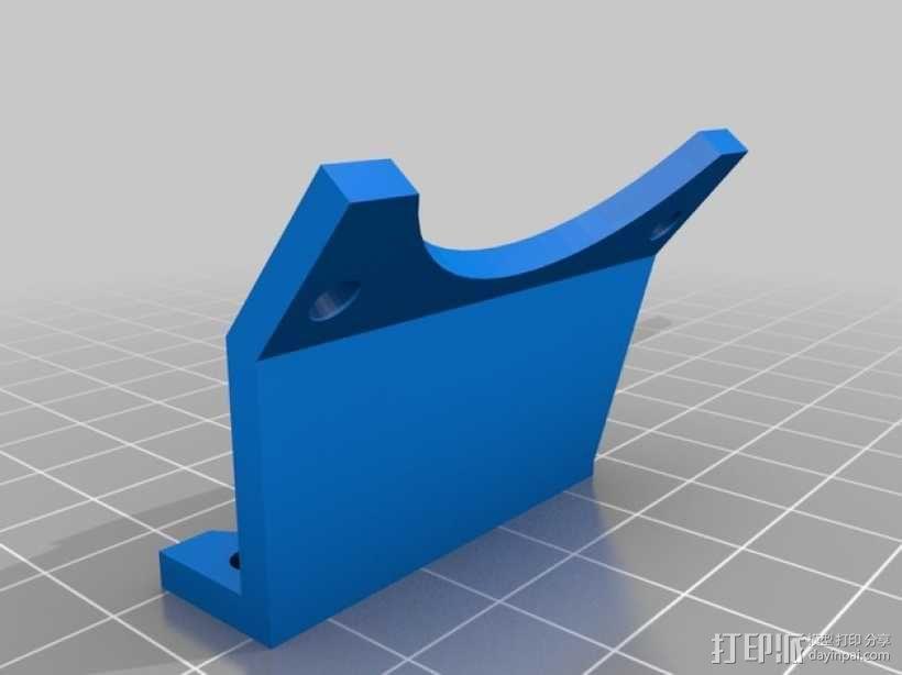 MakerGear打印机风扇支架 3D模型  图1