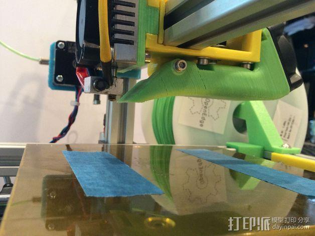 FoldaRap 2打印机风扇通风导管 3D模型  图6