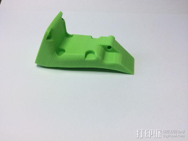 FoldaRap 2打印机风扇通风导管 3D模型  图3