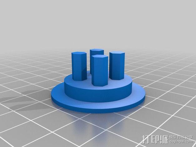 3D扫描仪旋转支架 3D模型  图10
