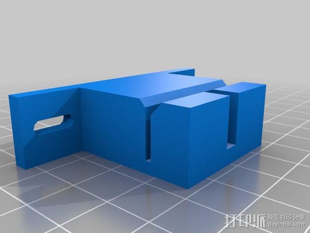 Prusa i3打印机Y轴皮带固定器 3D模型  图3