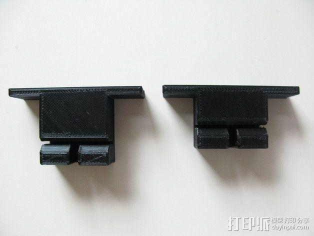 Prusa i3打印机Y轴皮带固定器 3D模型  图1