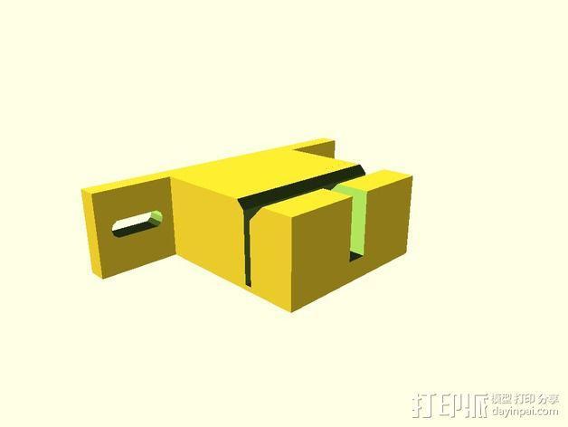 Prusa i3打印机Y轴皮带固定器 3D模型  图2