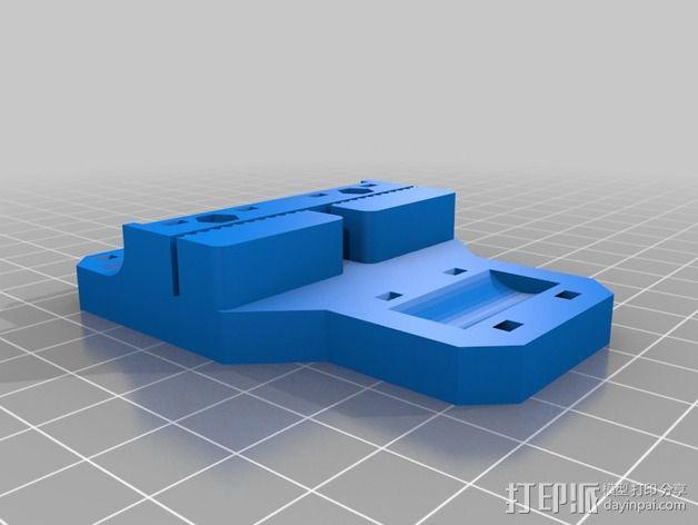 Sketchup i3打印机皮带固定器 3D模型  图2