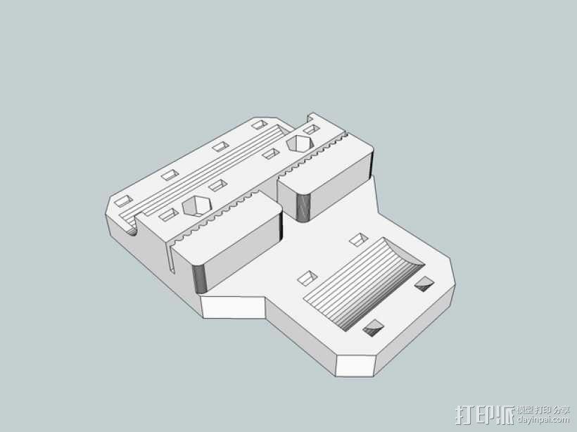 Sketchup i3打印机皮带固定器 3D模型  图1