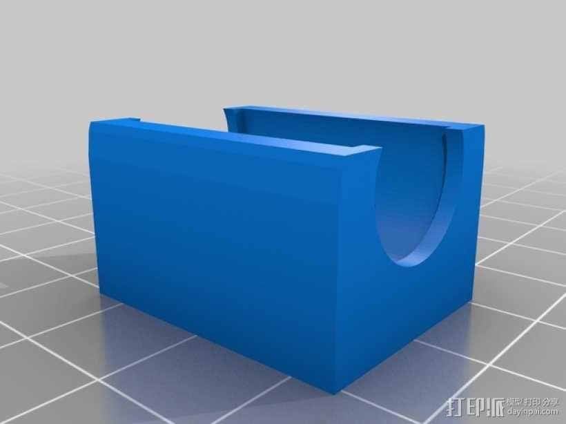 LM8UU线性轴承支架 3D模型  图1
