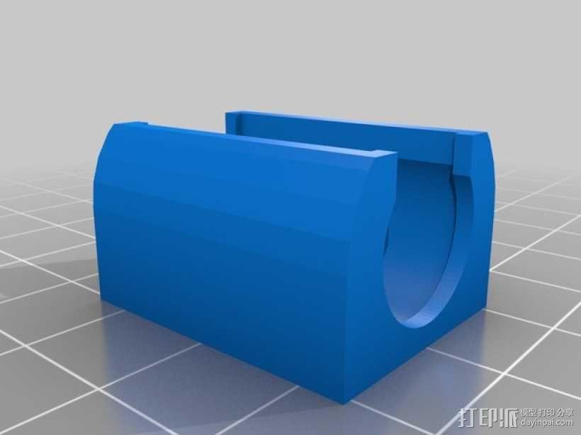LM8UU线性轴承支架 3D模型  图2