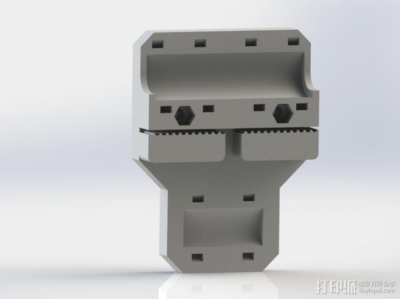 i3打印机X轴皮带固定器 3D模型  图1