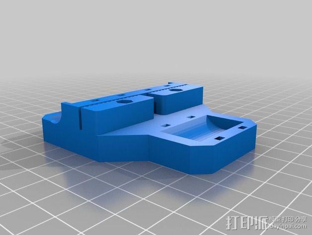 i3打印机X轴皮带固定器 3D模型  图3