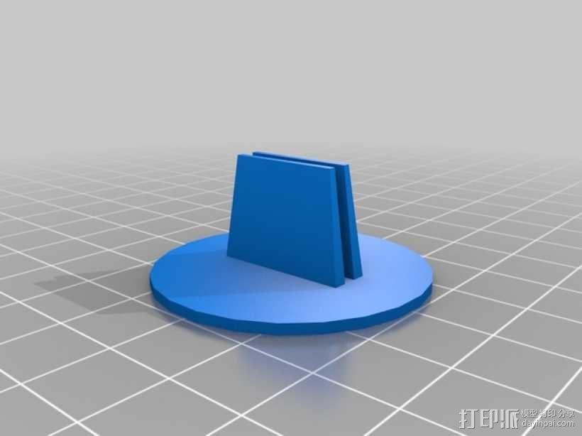 Printrbot Simple Metal打印机脚垫 3D模型  图1